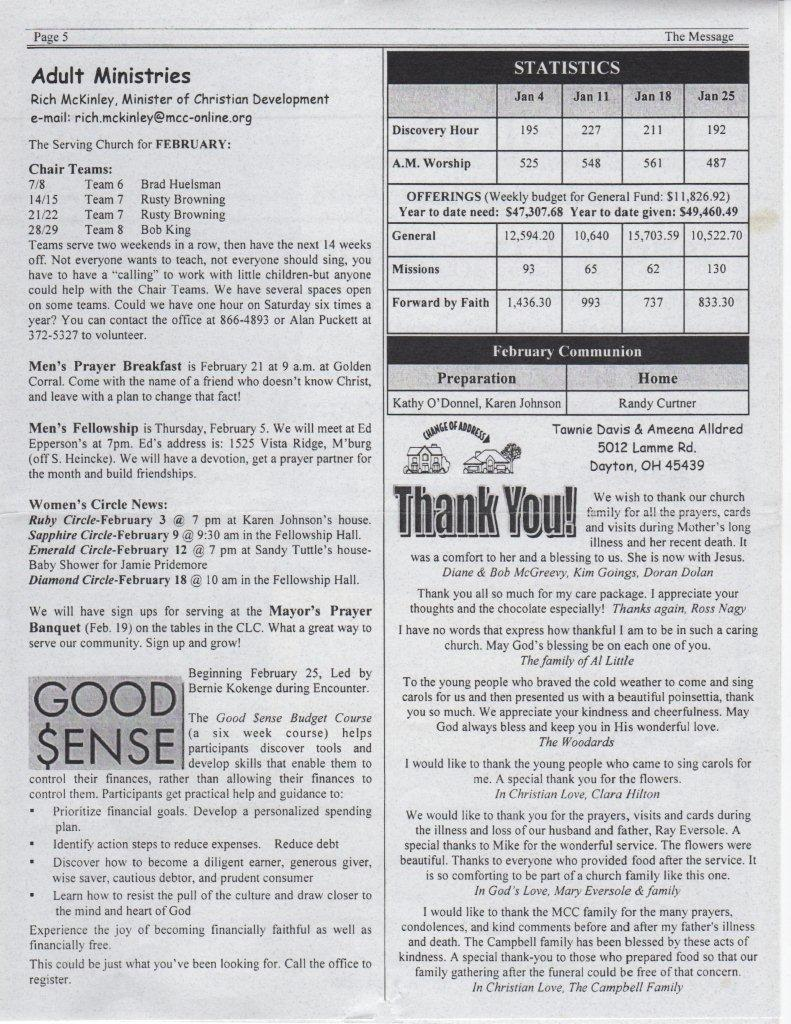 miamisburg church of christ newsletters